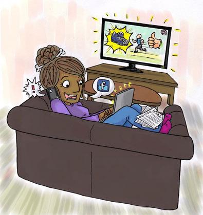 Ungdomar är ständigt uppkopplade via mobiler (smartphones), surfplattor (tablets), datorn, tvn.